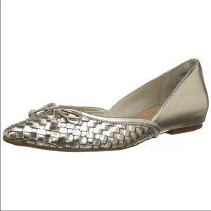 Speery Morgan Platinum Weave Flats Sz 6.5